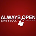 Always Open Safe and Lock