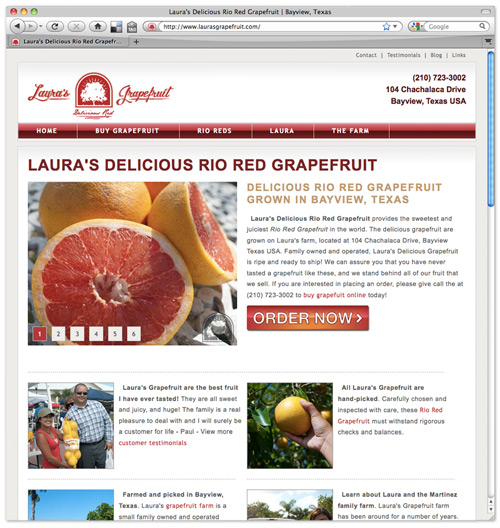 Laura's Grapefruit Website - www.laurasgrapefruit.com