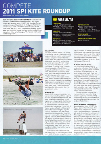 2011 South Padre Island Kite Round-Up Results