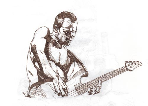 Flea Drawing - Red Hot Chille Peppers