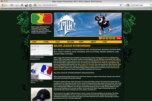 Major League Kiteboarding Website